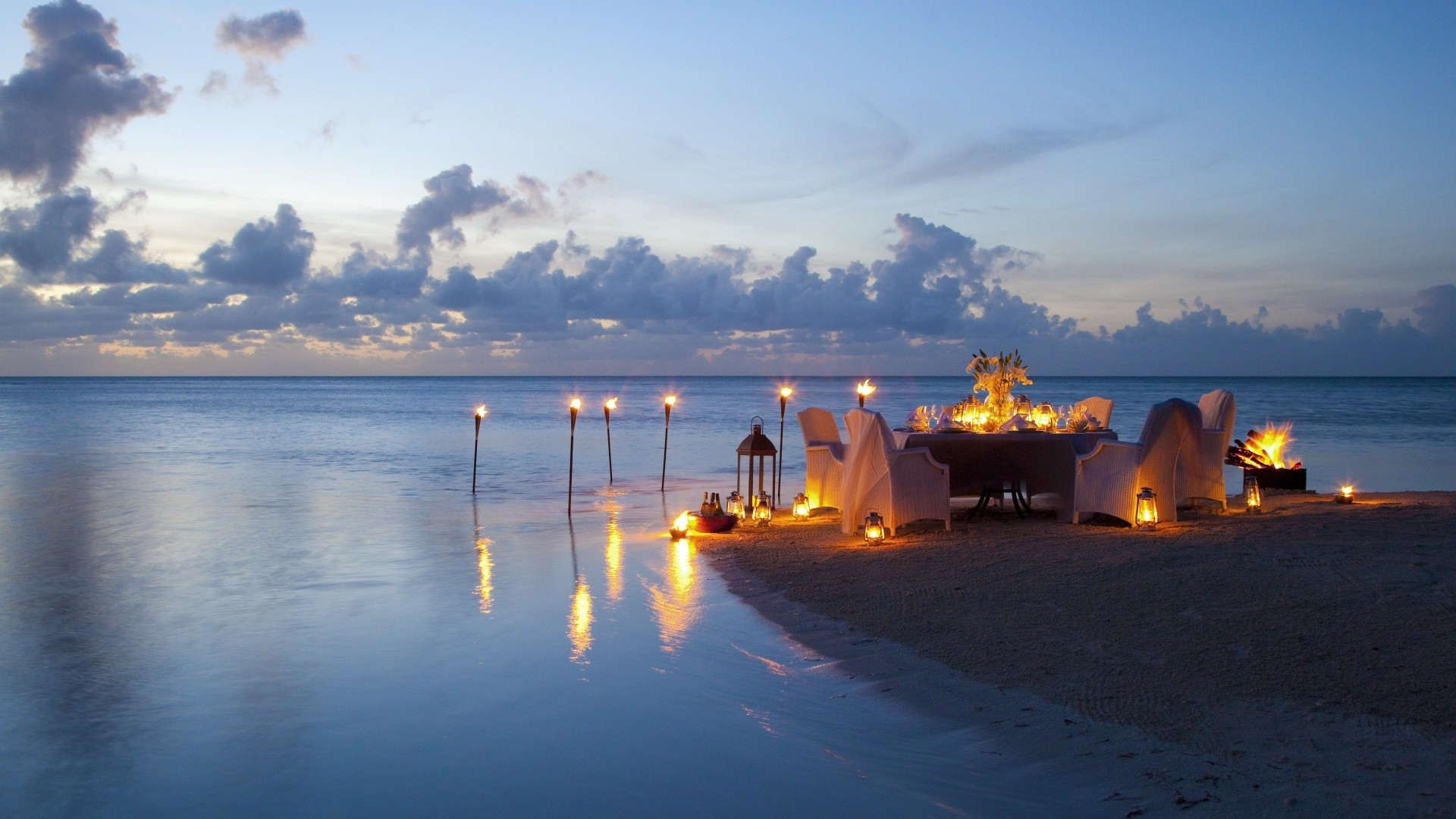 naatashabanks Dreaming about romantic candle light dinner on the beach custom pic 1