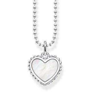 THOMAS SABO NECKLACE HEART (WHITE)