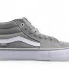 Vans Sk8 Mid Pro Mens 7 / Womens 8.5 Drizzle Grey White Skateboarding Shoes