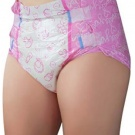 LittleForBig Printed Adult Brief Diapers ABDL 10 Pieces Nursery Pink Large