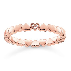 THOMAS SABO RING HEARTS ROSE GOLD