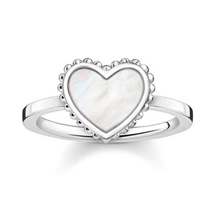 THOMAS SABO RING HEART (WHITE)