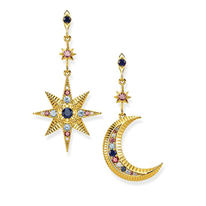 THOMAS SABO EARRINGS ROYALTY STAR & MOON